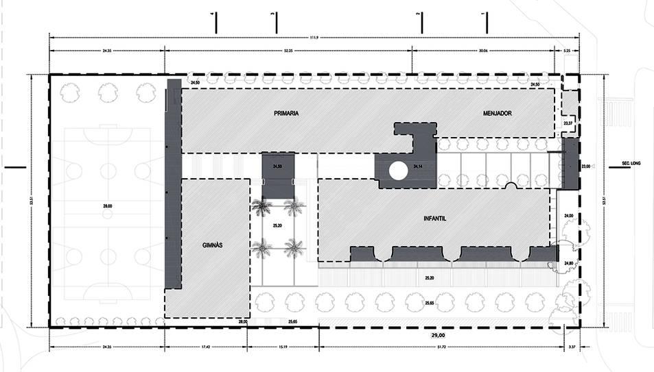 Així estarà distribuida la nova escola de l'Arrabassada, que serà una realitat el 2019.