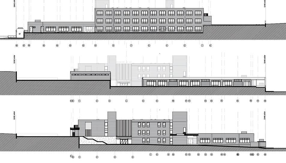 La façana de la futura escola.