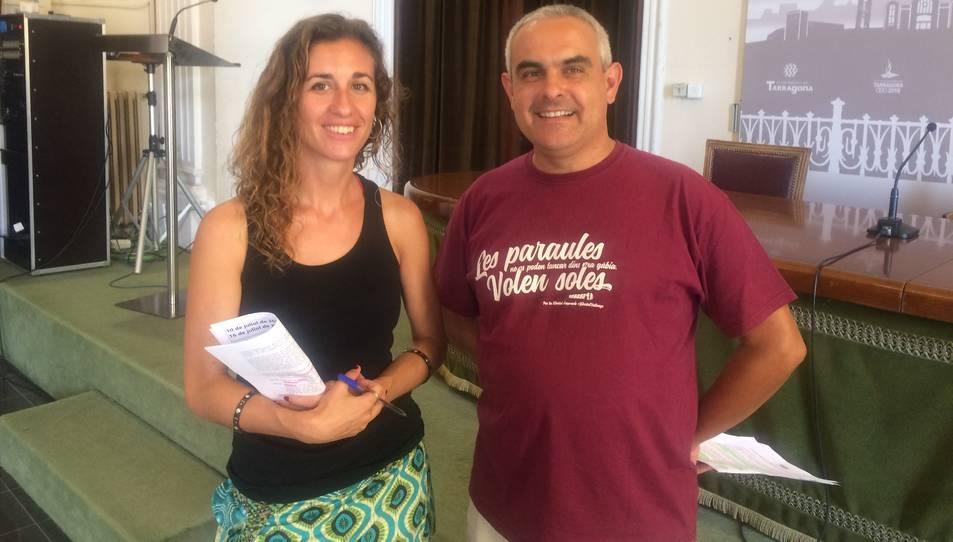 Laia Estrada i Jordi Martí, els regidors de la CUP al consistori de Tarragona.