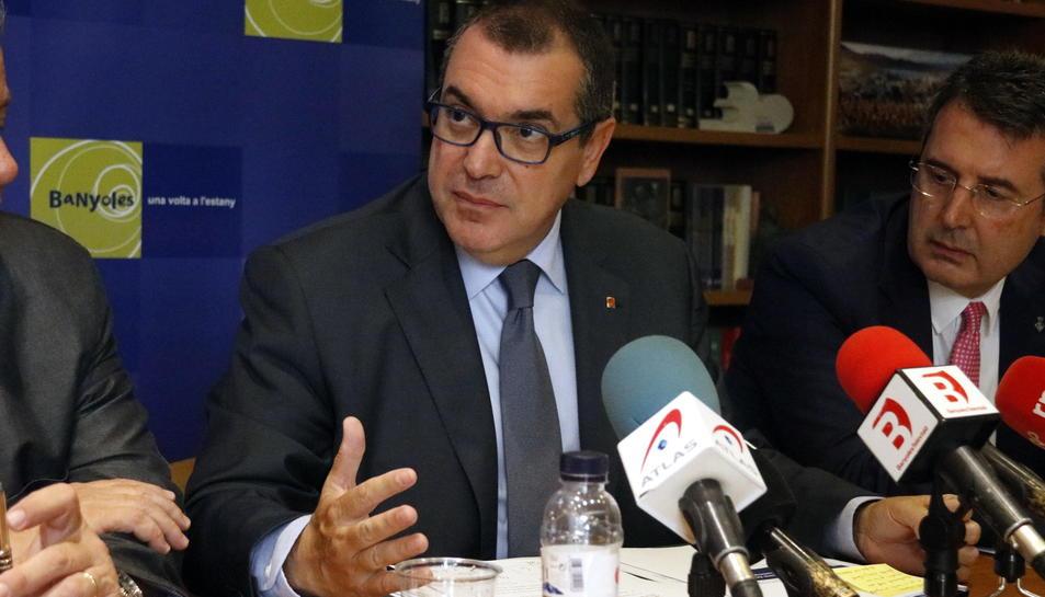 El conseller d'Interior, Jordi Jané, aquest 7 de juliol del 2017 a Banyoles (Horitzontal)