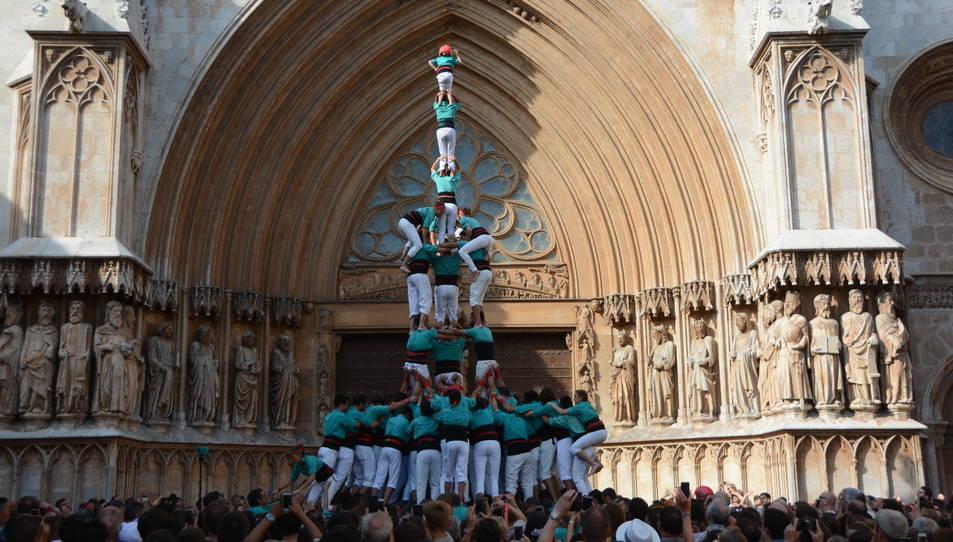3de9fa dels Castellers de Vilafranca a la diada del Pla de la Seu.