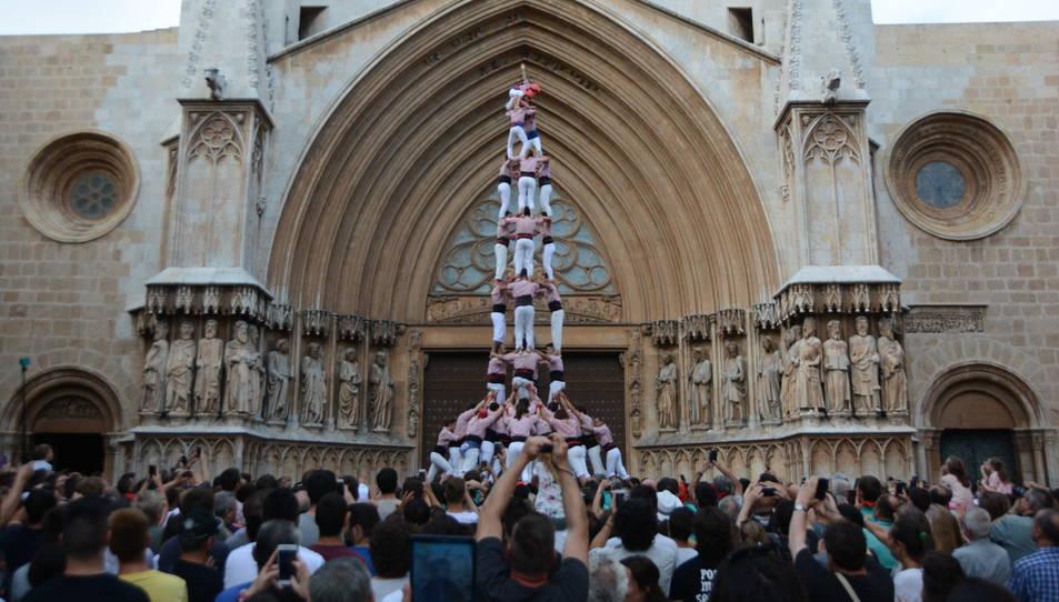 4de9f dels Xiquets de Tarragona a la diada del Pla de la Seu.