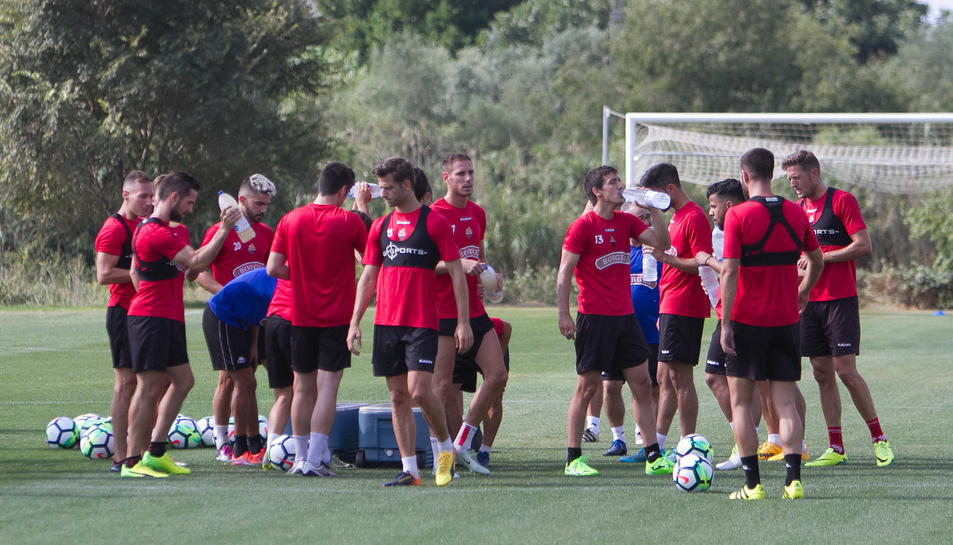 El primer entrenament de CF Reus.