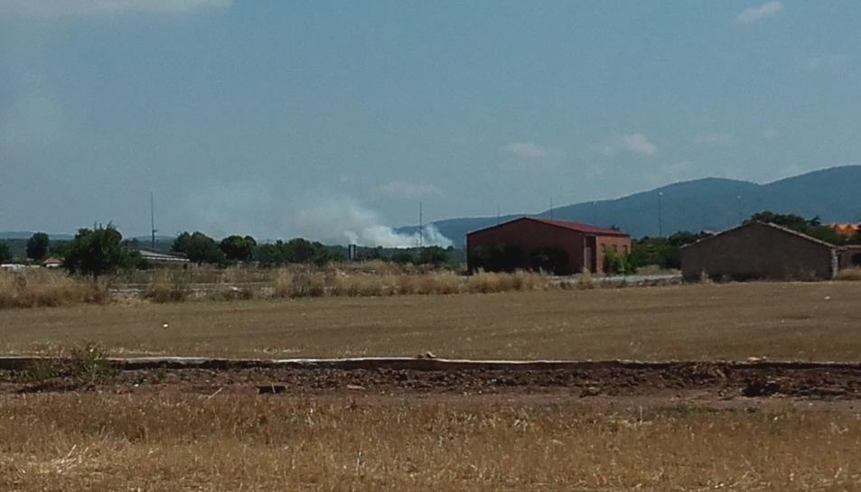 L'incendi ha mobilitzat un mitjà aeri i set de terrestres.