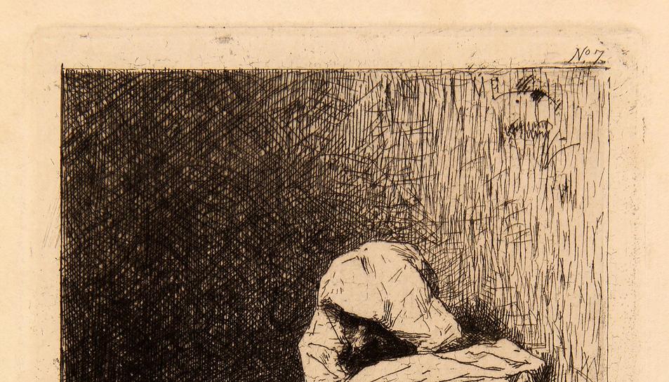 Imatge de l'obra 'Àrab assegut', de Marià Fortuny.