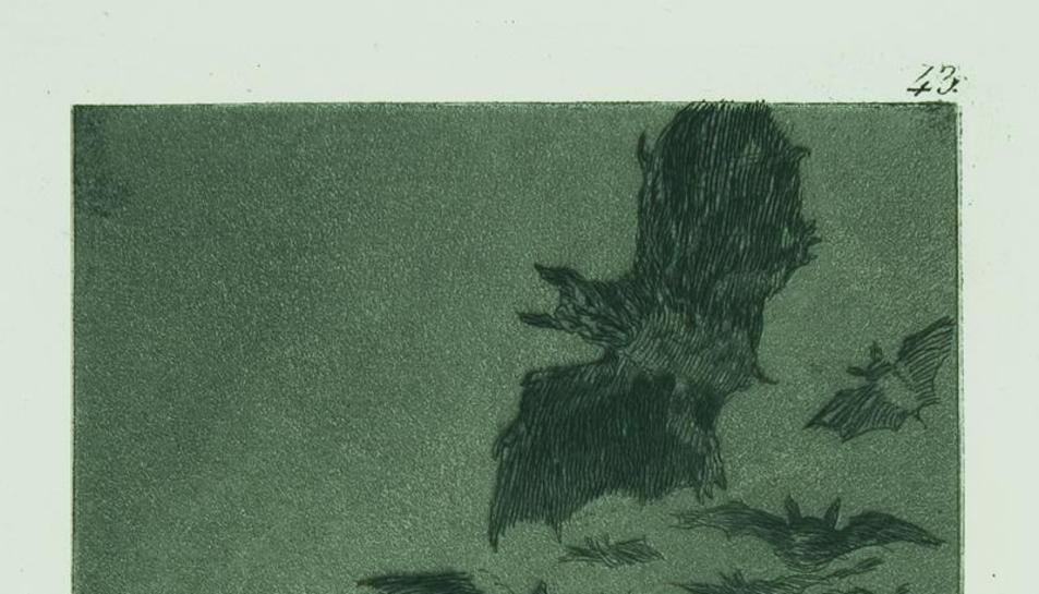 Imatge d'un dels 'Caprichos' de Goya.