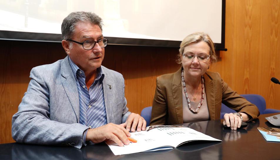 Pere Virgili i Isabel Vidal, ahir en la roda de premsa en què es va fer balanç dels dos últims anys.