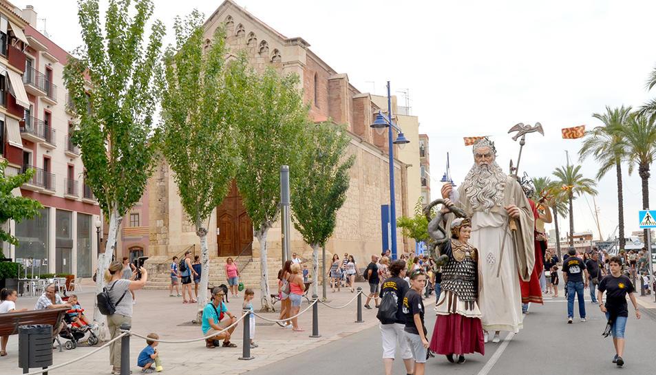 Els gegants de l'Hospitalet de Llobregat han participat a la trobada.