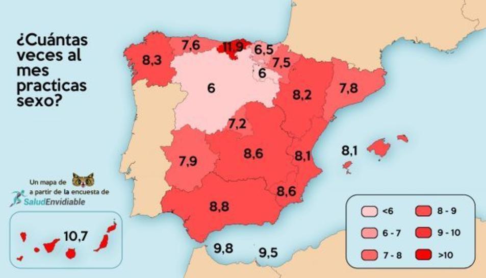 El 'mapa del sexe' a Espanya.