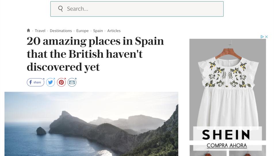 Enca`çalament de l'article del diari britànic.