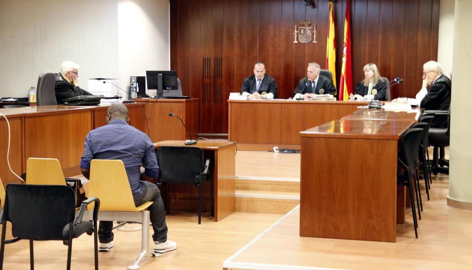 Imatge general de l'Audiència de Lleida, durant el judici.