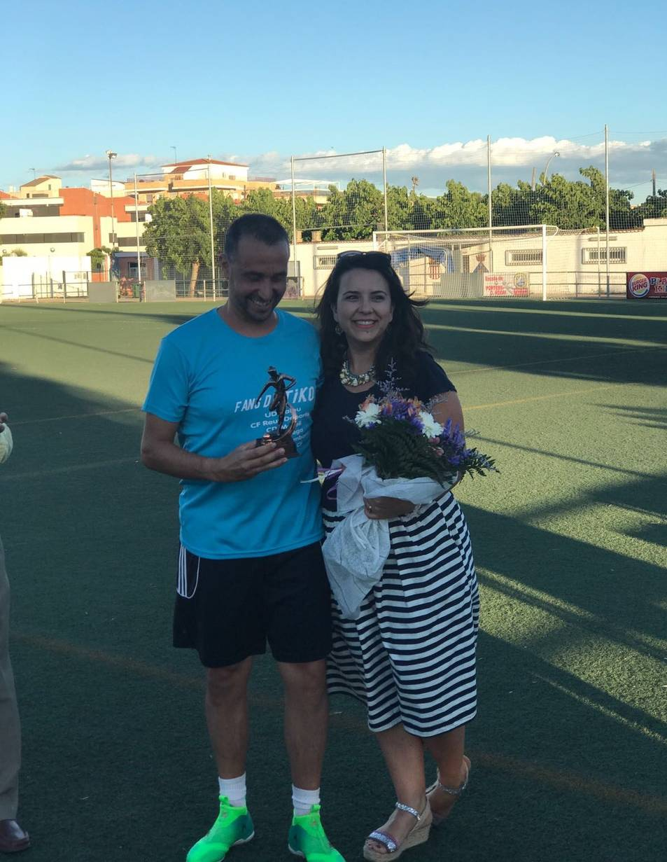 Tiko, amb la seva dona.