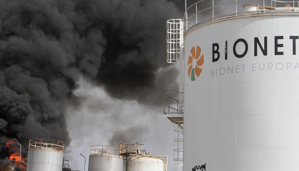 El foc s'ha produït en una fàbrica abandonada d'AgroReus.