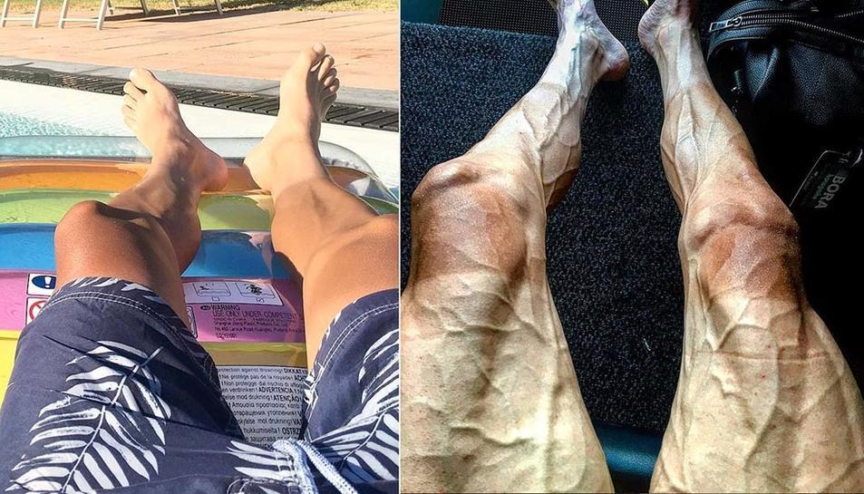 A l'esquerra, imatge de l'estiu de 2016 i a la dreta, imatge actual.