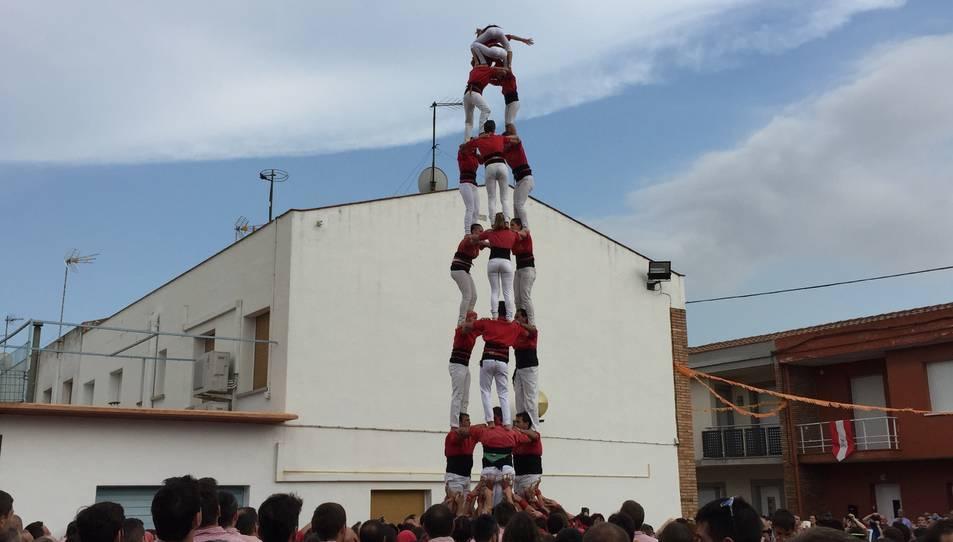3de8 dels Xicots de Vilafranca a la diada de les Vivendes de la Colla Vella.