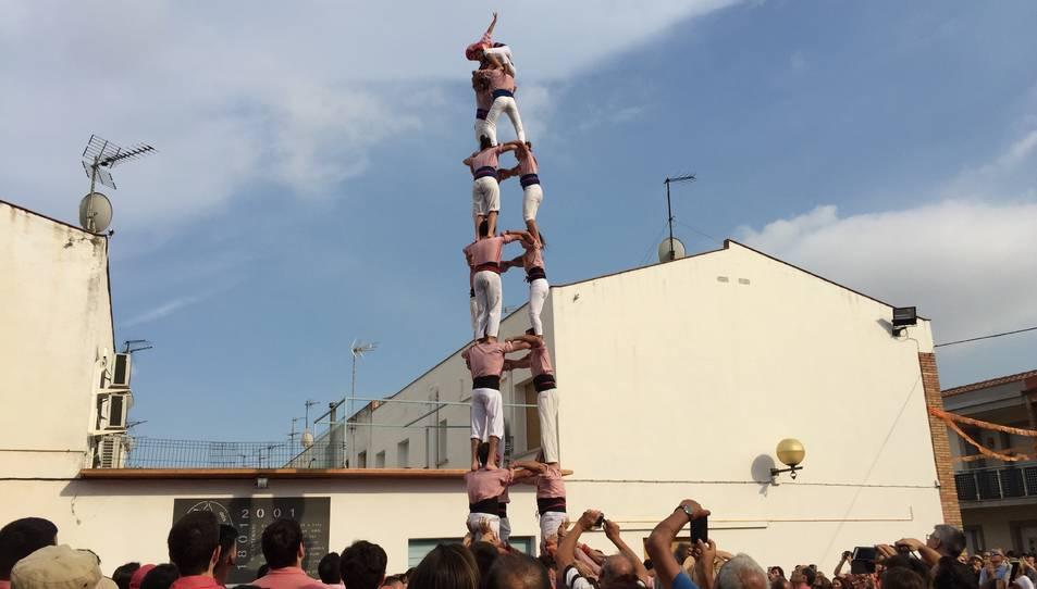 3de8 dels Xiquets de Tarragona a la diada de les Vivendes de la Colla Vella.