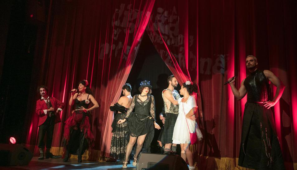 Instant de l'espectacle Dignità Autonome di Prostituzione, que va inaugurar el FITT.