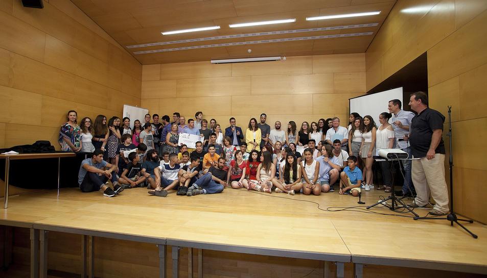 Els participants al programa EnergiaNaccion a la Gala d'entrega de premis a Vila-seca.