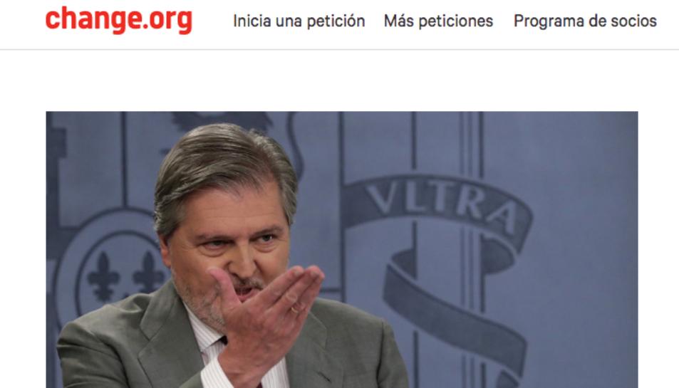 La petició ha aconseguit 3.488 signatures en tan sols dos dies.