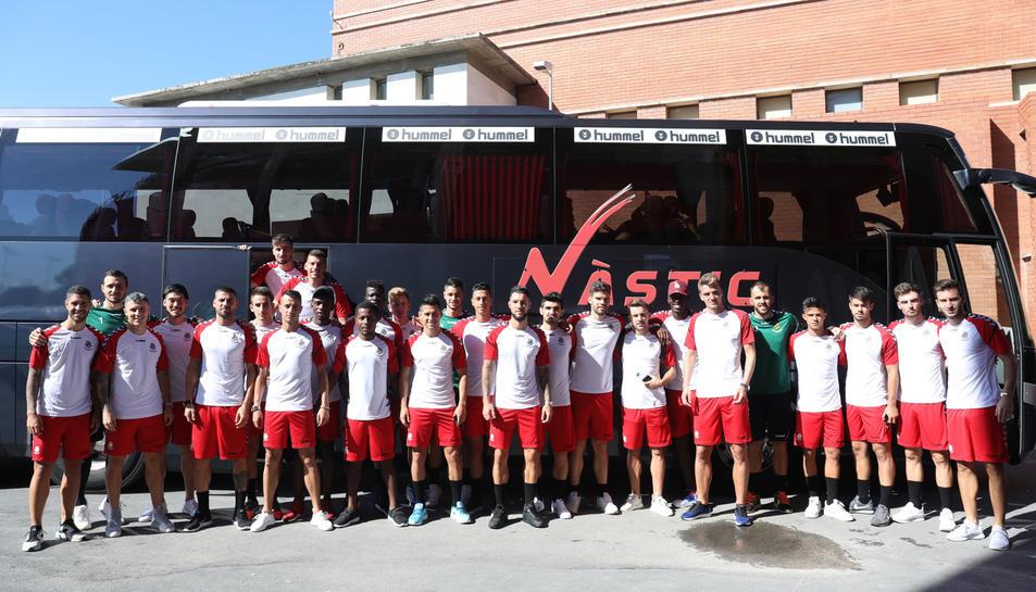 Imatge de l'equip abans de sortir direcció Olot.