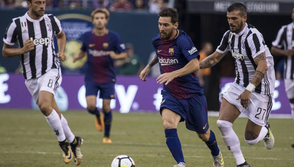Messi durant el partit que va enfrontar els blaugranes i la Juventus a la International Champions Cup als Estats Units.