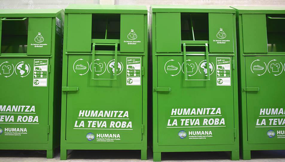 Humana Fundación Pueblo para Pueblo té instal·lats 19 contenidors a Salou.