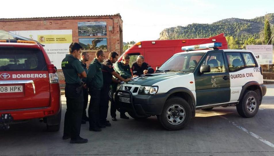 El dispositiu de recerca dela noia va incloure Guàrdia Civil, bombers, agents rurals, protecció civil i veïns de la zona.