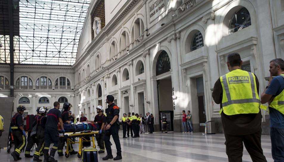 Accident de tren a l'estació de França