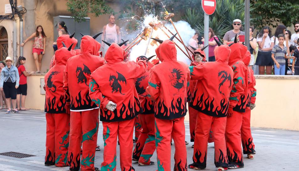 Els diables van ser un dels protagonistes del seguici.