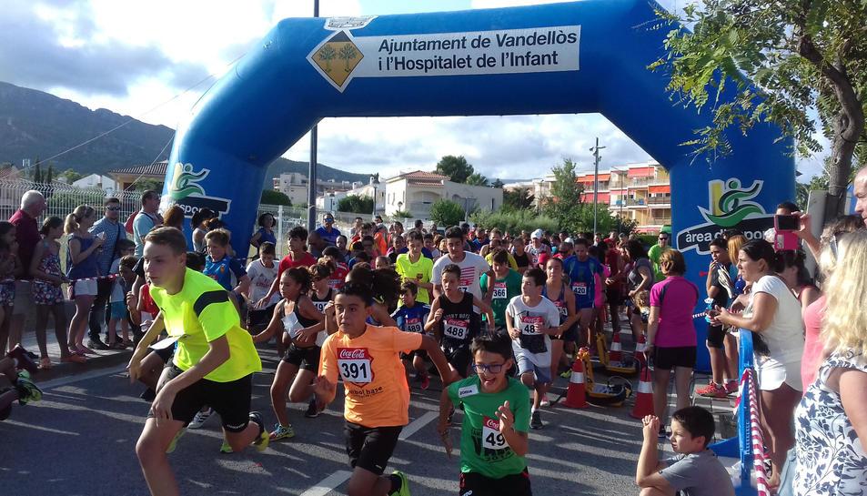 Els més petits també van participar a la 10a Cursa Popular.