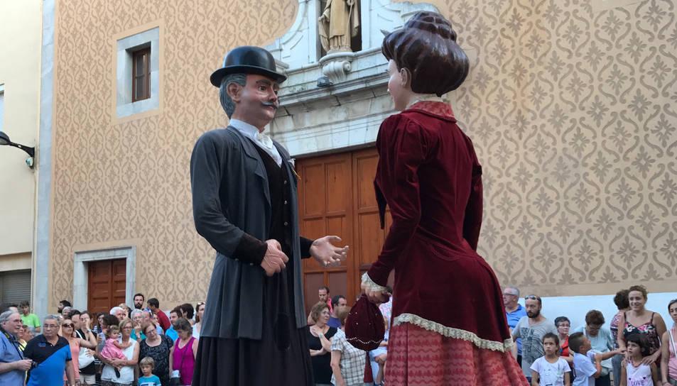 Els gegants del Morell durant la Festa Major.