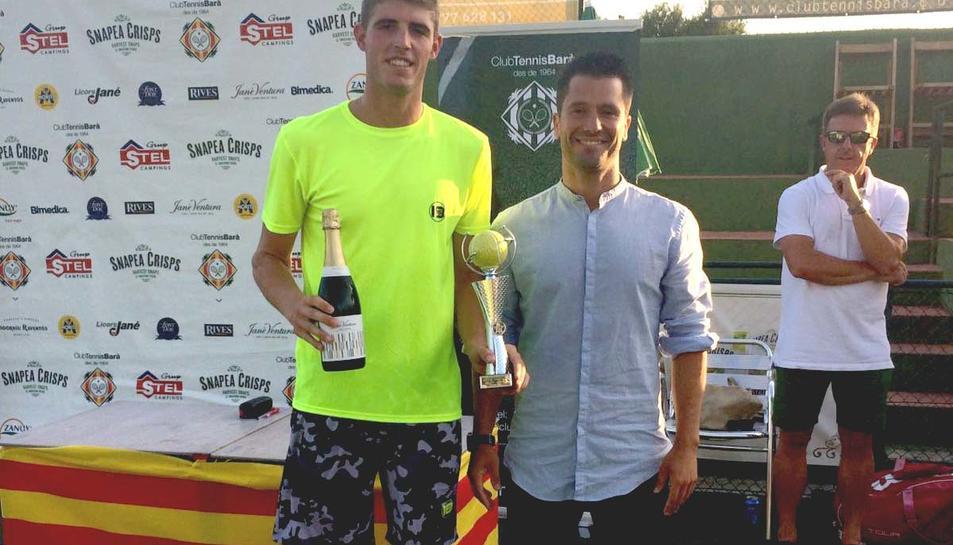 Quim Sorni, guanyador en categoria masculina de l'Open d'Estiu Tennis Barà.