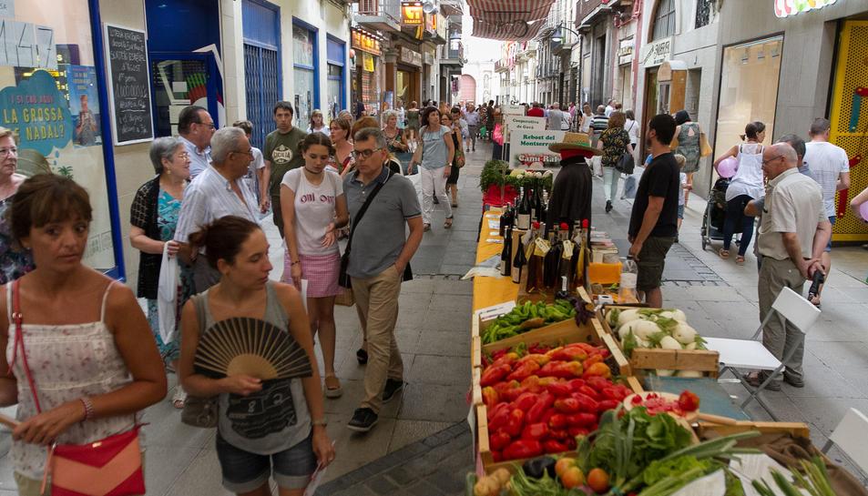El carrer de la Cort és una de les zones més concorregudes durant la Firagost.