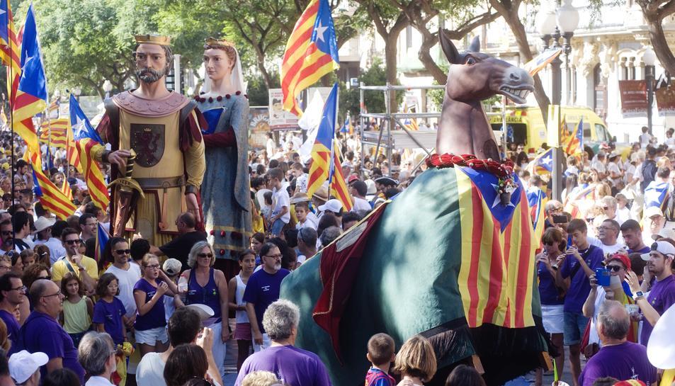 Instant d'un acte de la Diada Nacional de Catalunya.
