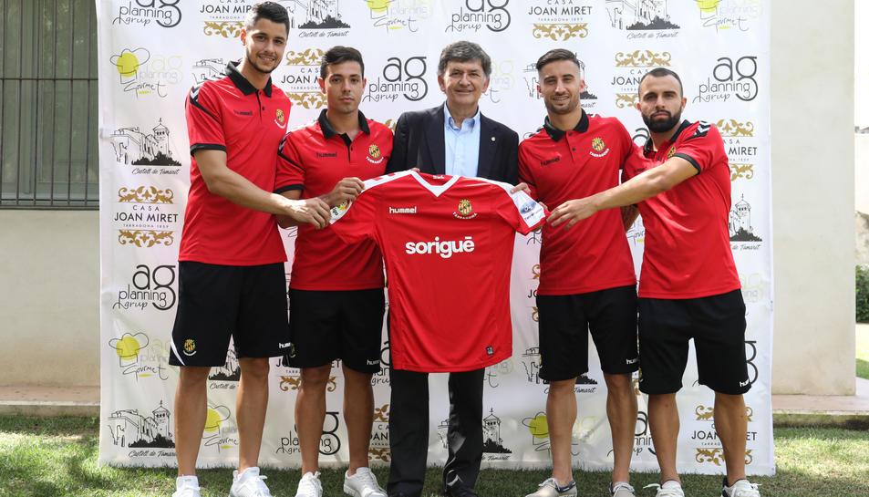 Imatge de la presentació conjunta de jugadors que ahir va presidir Andreu.