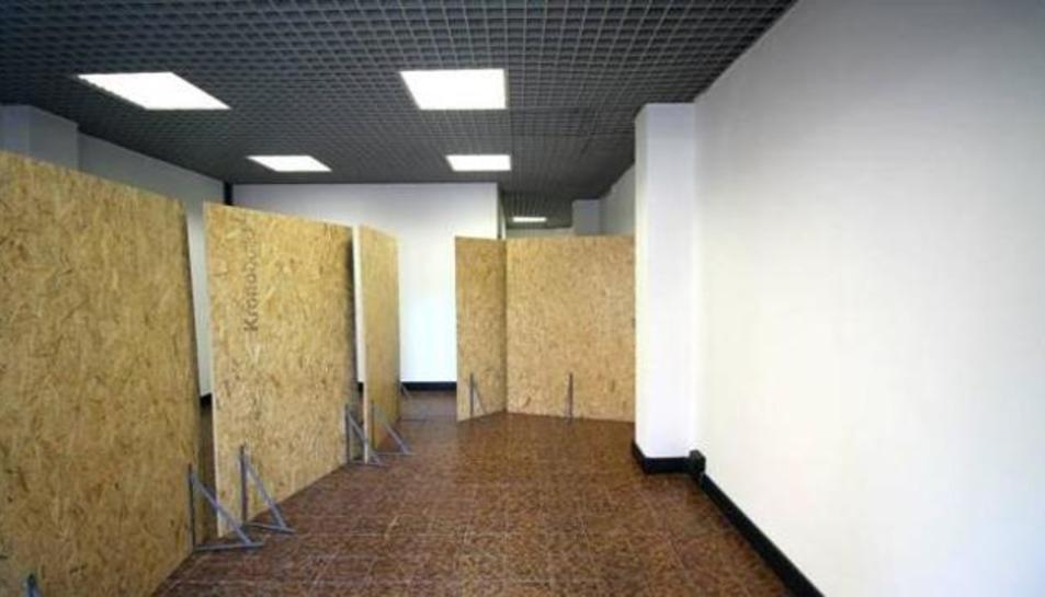 La model va estar tancada en unes oficines abandonades.