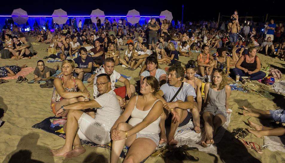 Una imatge del públic que va assistir al concert