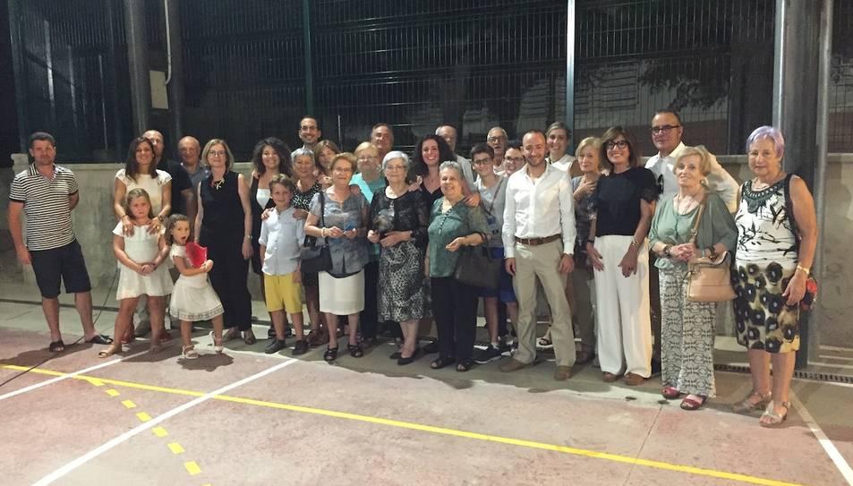 Fotografia de família de la Festa, que va tenir lloc divendres passat a Garcia.