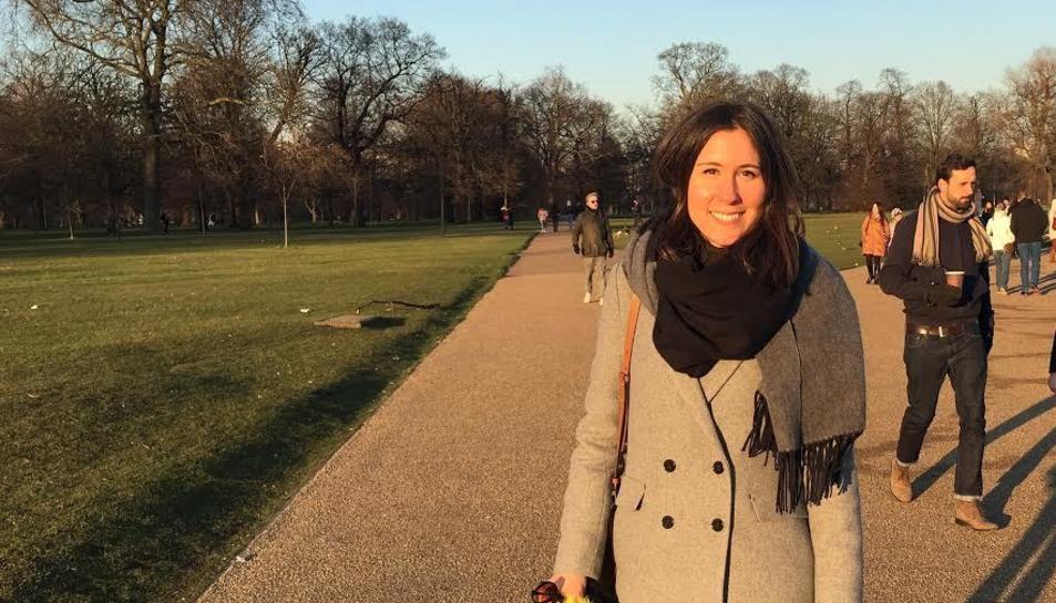 La Cristina en el famós parc londinenc de Hyde Park.