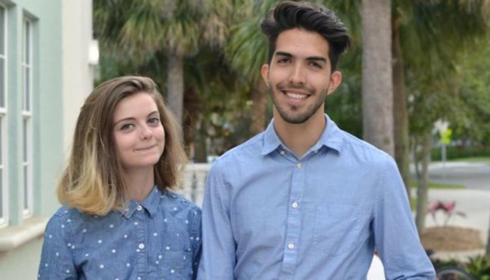 """Esteban Bravo i Beth David, creadors del curt d'animació """"In a Heartbeat""""."""
