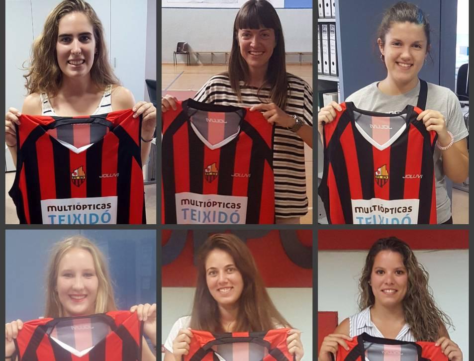 Les noves jugadores fitxades per l'equip, que ha ascendit recentment a Primera Catalana.