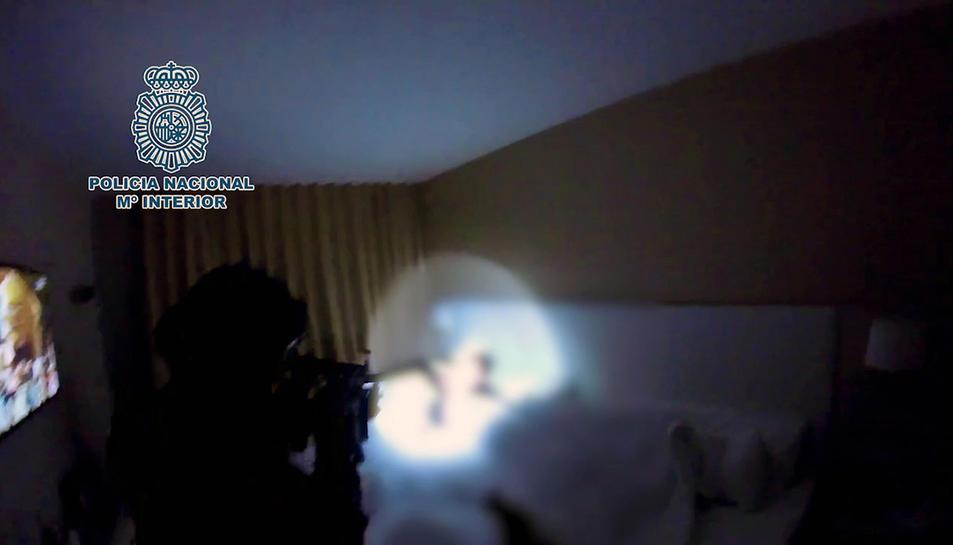 Imatge de la detenció a l'hotel de Salou.