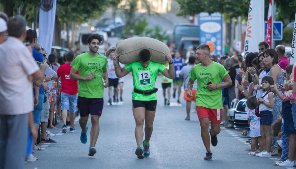 Jordi Serra, primer classificat de la 21a Combinada, participant, ahir a la tarda, a la cursa celebrada a Riudoms.