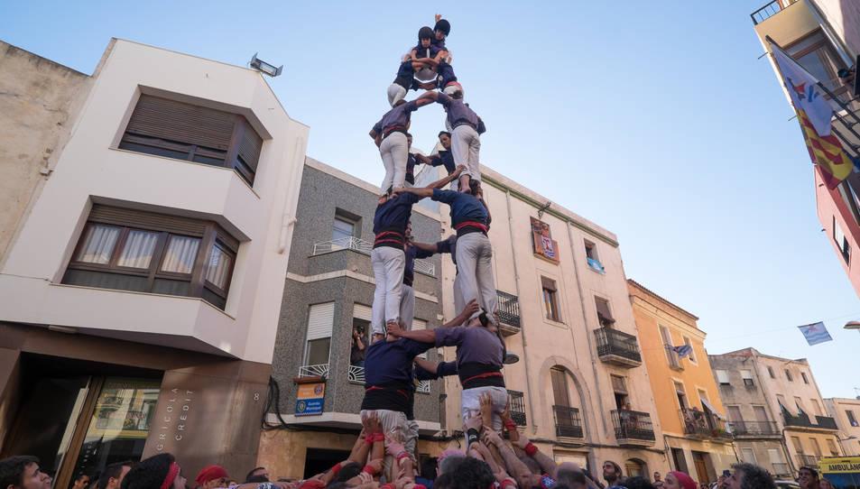 4de7 dels Xiquets del Serrallo a diada de la festa major de La Canonja.