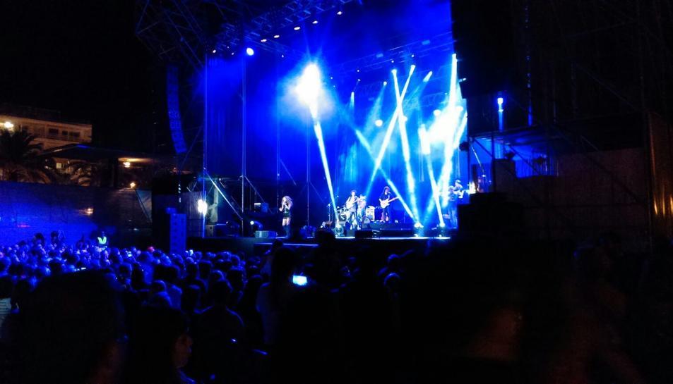 Aspecte que oferia aquest dissabte a la nkit el concert de Rosario a les Nits Daurades de Salou.