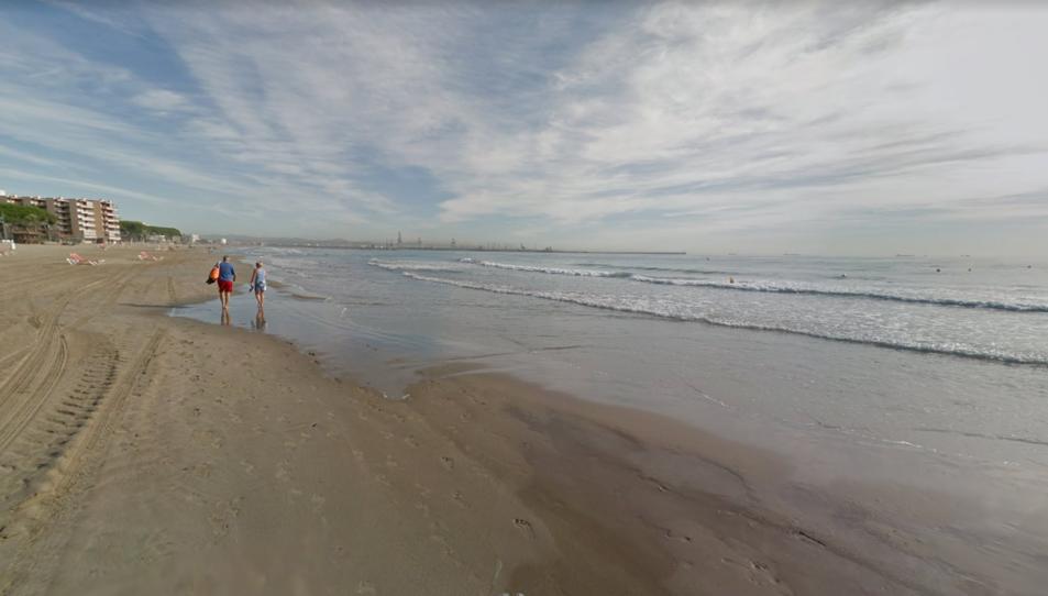 La platja de la Pineda en una imatge d'arxiu.
