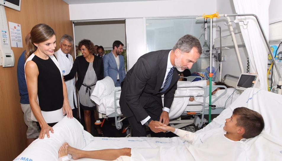Els Reis van visitar diversos hospitals catalans.
