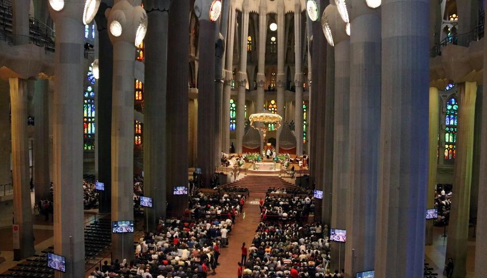 La missa a la Sagrada Família.
