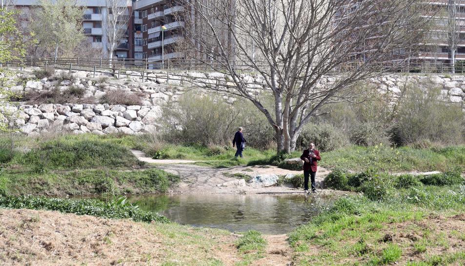 La passera es col·locarà pròxima a aquest espai localitzat a pocs metres del Pont de Santa Tecla.