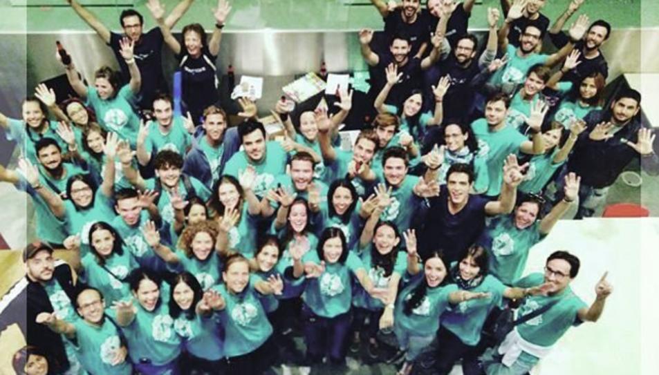 Voluntaris d'Espais Ocults en una fotografia publicada a Instagram.
